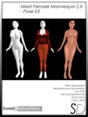 Mesh Female Mannequin 2.0 - Pose 03