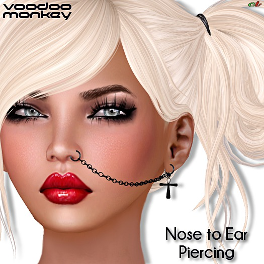 Second Life Marketplace Vm Nose To Ear Piercing