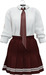 NYU -  Tie Shirt w/ Pleated Skirt, Red