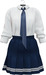 NYU -  Tie Shirt w/ Pleated Skirt, Blue