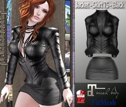 Jacket - Skirt TS - Black
