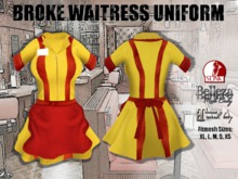 BROKE WAITRESS UNIFORM. Fitmesh Sizes, Belleza, Slink, Maitreya