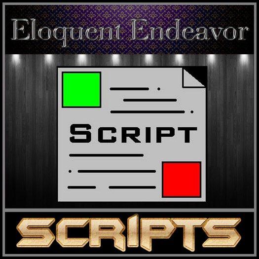Sit Animation Script - Scripts by Eloquent Endeavor