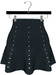 NYU - Mesh Flare Skirt w/ Pearls, Teal