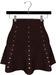 NYU - Mesh Flare Skirt w/ Pearls, Red