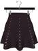 NYU - Mesh Flare Skirt w/ Pearls, Plum