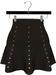 NYU - Mesh Flare Skirt w/ Pearls, Brown