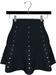 NYU - Mesh Flare Skirt w/ Pearls, Blue