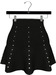 NYU - Mesh Flare Skirt w/ Pearls, Black