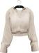 NYU - Grommet Sleeve Shirt, Beige