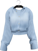 NYU - Grommet Sleeve Shirt, Blue