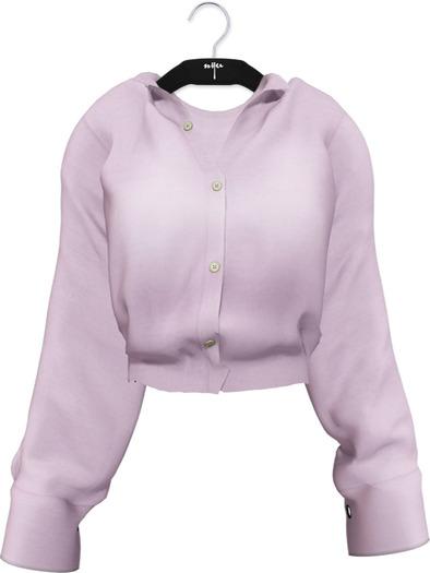 NYU - Grommet Sleeve Shirt, Purple