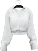 NYU - Grommet Sleeve Shirt, White
