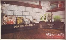 {vespertine}- kitchen crates set