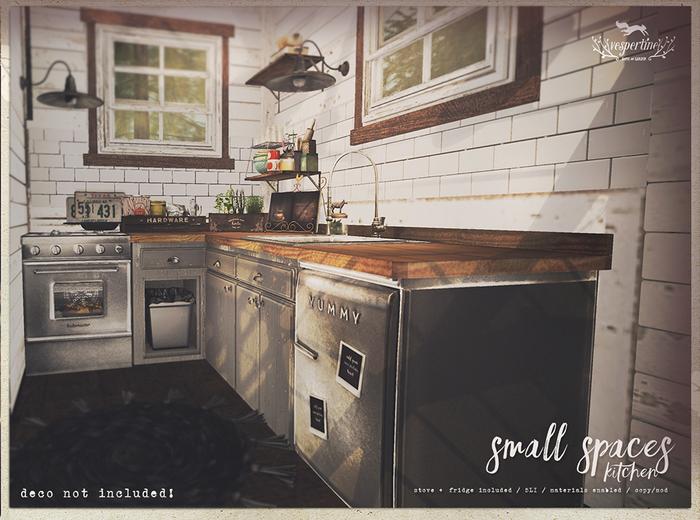 {vespertine}small spaces kitchen