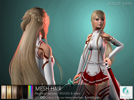 rezology Blood Oath (RIGGED mesh hair) BF - 3137 complexity