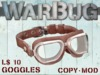 WarBug Aviator Goggles