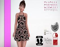 [EN] Dress Summer Strap Details Black ::MESH::