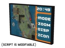 Full Perm Scripted Mesh GPS Instrument / Gauge 1.0li (SCRIPT IS MODIFIABLE)