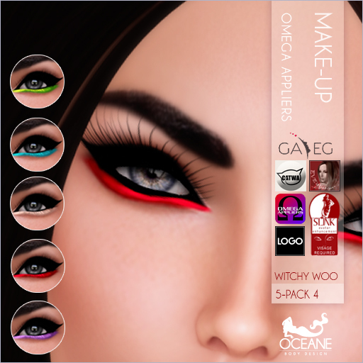 PROMO! Oceane -Witchy Woo Eyeliners 5-Pack 4 [OMEGA]