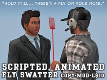 Scripted Animated Mesh Fly Swatter