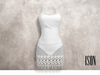 ISON - bodysuit lace dress (white)