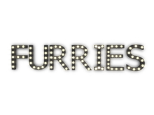 "[Px] ""FURRIES"" Illuminated Light Bulbs Sign"