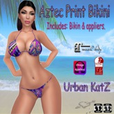 Aztec Print Bikini