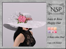 NSP Lace Rose Floppy Hat - V3