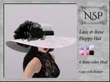 NSP Lace Rose Floppy Hat - V10