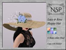 NSP Lace Rose Floppy Hat - V13