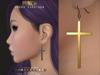 PUNCH / Cross Earrings ♥ {Mesh}
