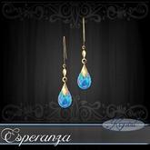 :::Krystal::: Esperanza - Earrings - Gold - Blue Opal