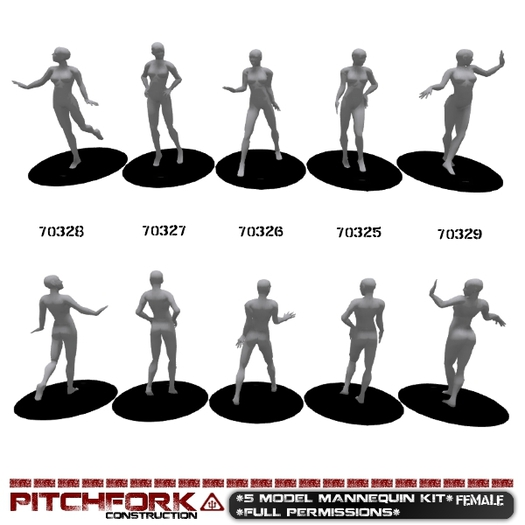 Pitchfork Mesh Female Mannequin Kit - (full permissions)
