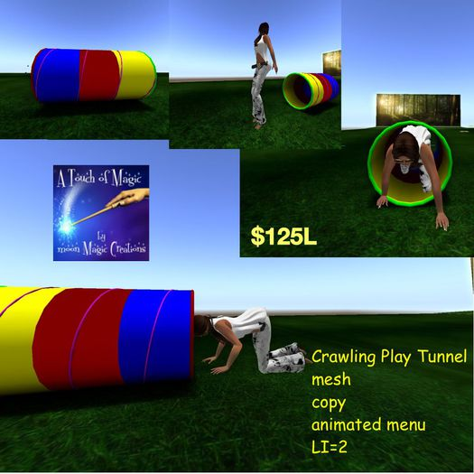 crawling play tunnel (crate)