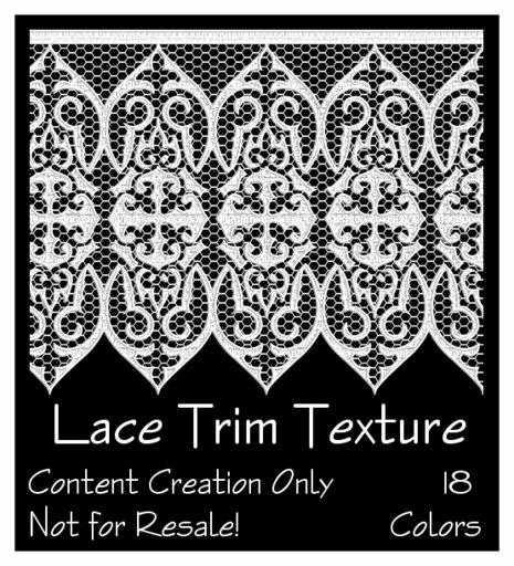 18 lace trim textures
