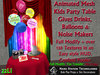 NaS-T Kids Party Table Animated Mesh Drink Noisemaker & Balloon Giver Confetti Poofer Birthday fun prop