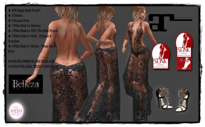 ishara sexy dress  black