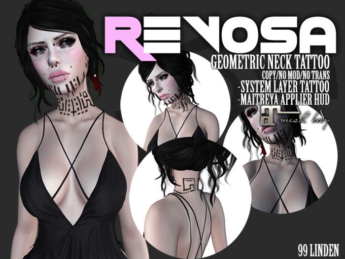 REVOSA Geometric Neck Tattoo