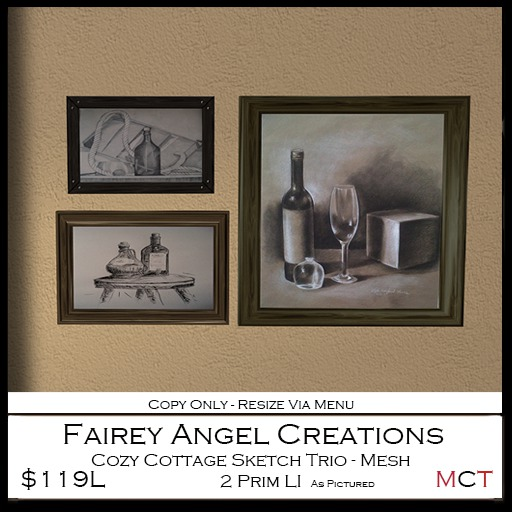 FAC Cozy Cottage Sketch Trio 119L