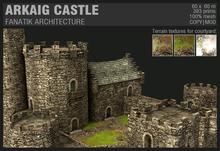 :Fanatik Architecture: ARKAIG CASTLE – mesh fortress building prefab