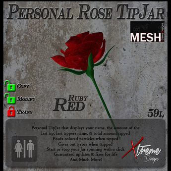 Ruby Red Rose TipJar