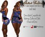 .:H.F Short Jumpsuit Corset Blue & Roses (100%Mesh)