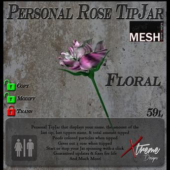 Floral Rose TipJar
