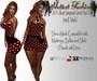.:H.F Short Jumpsuit Corset Red Dots  (100% Mesh)