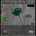 Teal Silk Rose TipJar