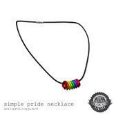 [SWaGGa] Simple Pride Necklace (Boxed)