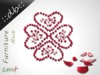 ::db:: Mesh Heart Flower Rose Petals Red Rose