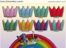 Sway's [Draemlike] crown cushion . mint/pink (wear or rez)