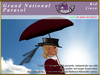 *E* Grand National Sidesaddle Parasol Set [BOXED] Red Linen